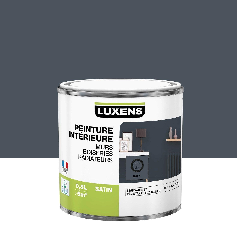 Peinture mur, boiserie, radiateur intérieur Multisupports LUXENS, ink 1, satin,