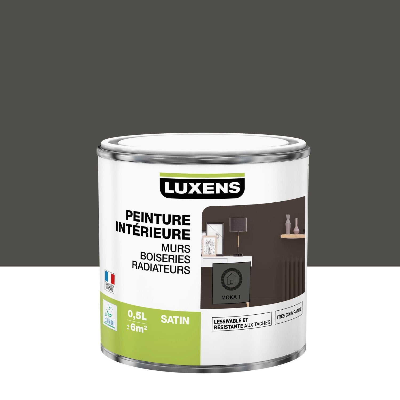 Peinture mur, boiserie, radiateur Multisupports LUXENS moka 1 satiné 0.5 l