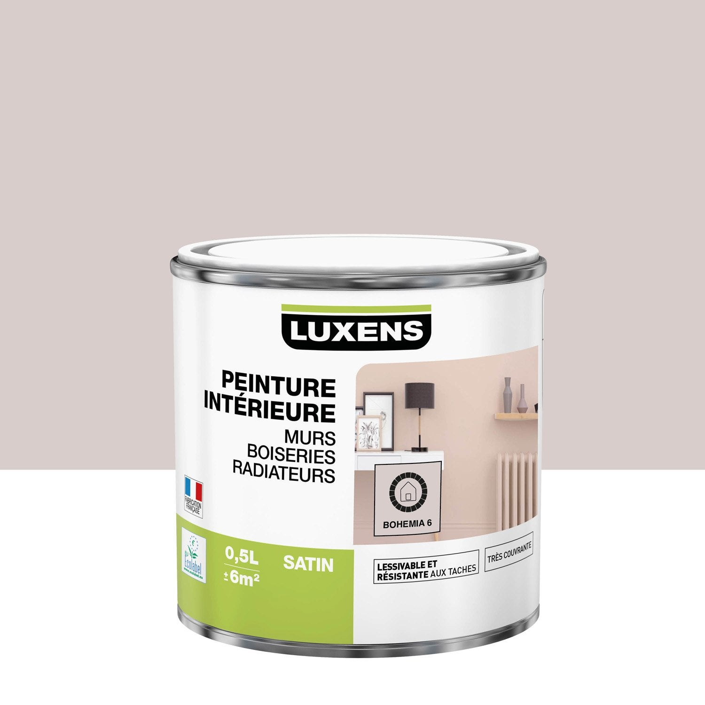 Peinture mur, boiserie, radiateur Multisupports LUXENS, bohemia 6, 0.5 l, satin