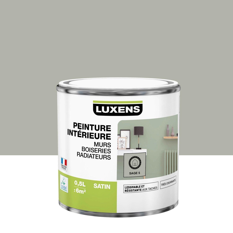 Peinture mur, boiserie, radiateur LUXENS, sage 5 0.5 l, satin