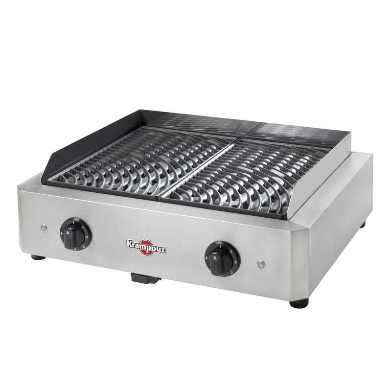 Barbecue Electrique Krampouz 500x400 Inox Et Noir Leroy Merlin