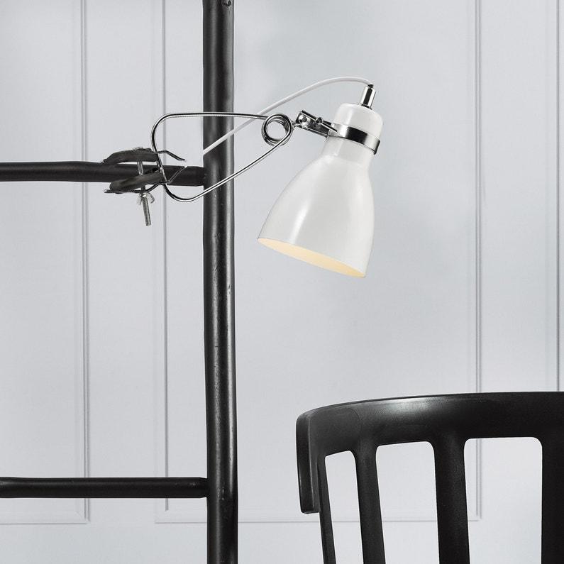 Lampe De Bureau à Pince Design Métal Blanc Nordlux Cyclone