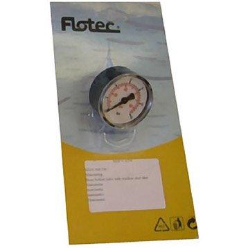 Manomètre radial en métal FLOTEC mâle Diam.12 mm mâle