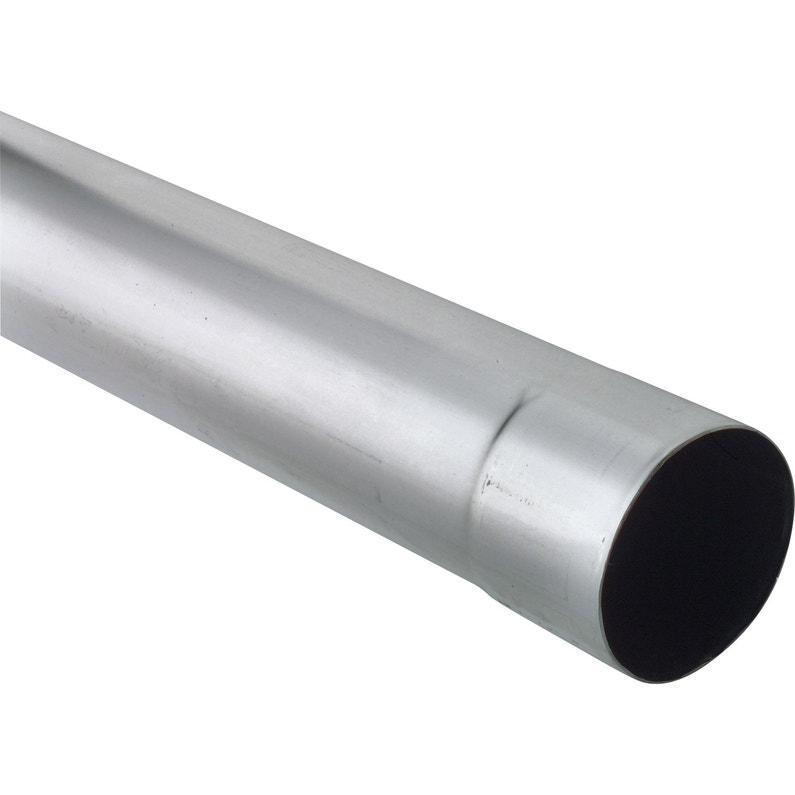 Tuyau De Descente Zinc Gris Diam80 Mm L2 M Scover Plus