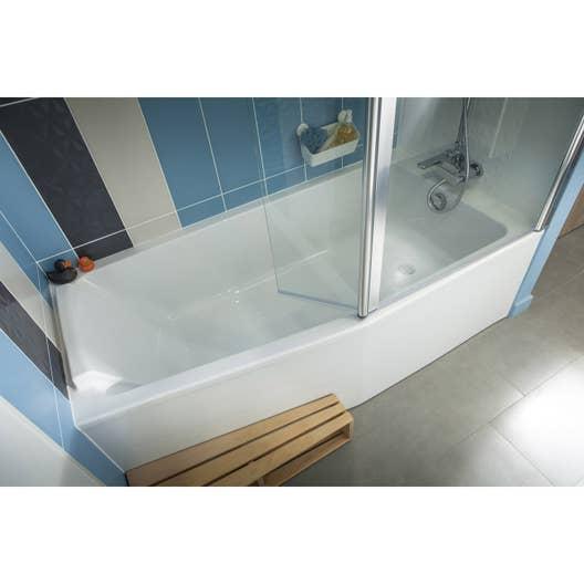 Salle De Bain En Longueur Douche Et Baignoire ~ baignoire l 170x l 85 cm jacob delafon sofa bain et douche vidage