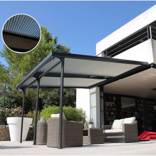 tonnelle adoss e azura aluminium gris anthracite 14 m. Black Bedroom Furniture Sets. Home Design Ideas