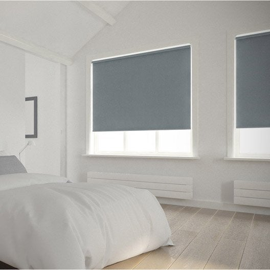 Store enrouleur occultant 5785 INSPIRE, gris galet n°3, 45x160 cm ...