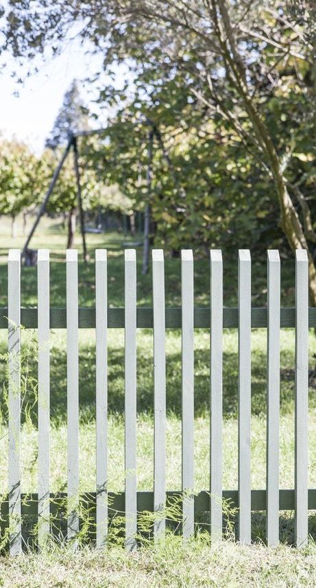 Barrière pour le jardin