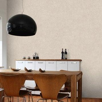 Papier peint intissé Beton mat gris doré n°5