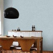 Papier peint intissé Beton mat bleu