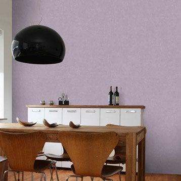 Papier peint intissé Beton mat violet aubergine n°5