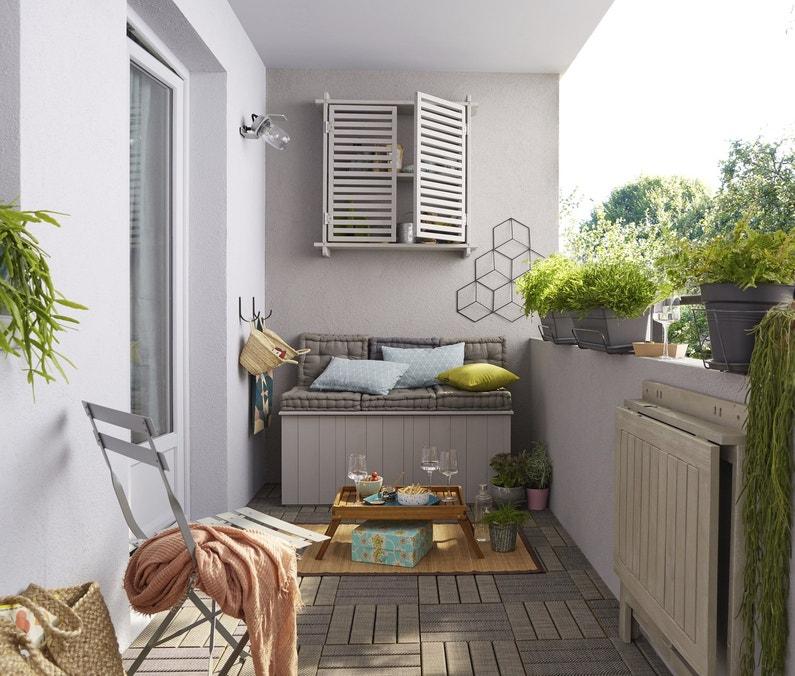 Le balcon optimis avec la table rabattable leroy merlin - Table balcon rabattable ...