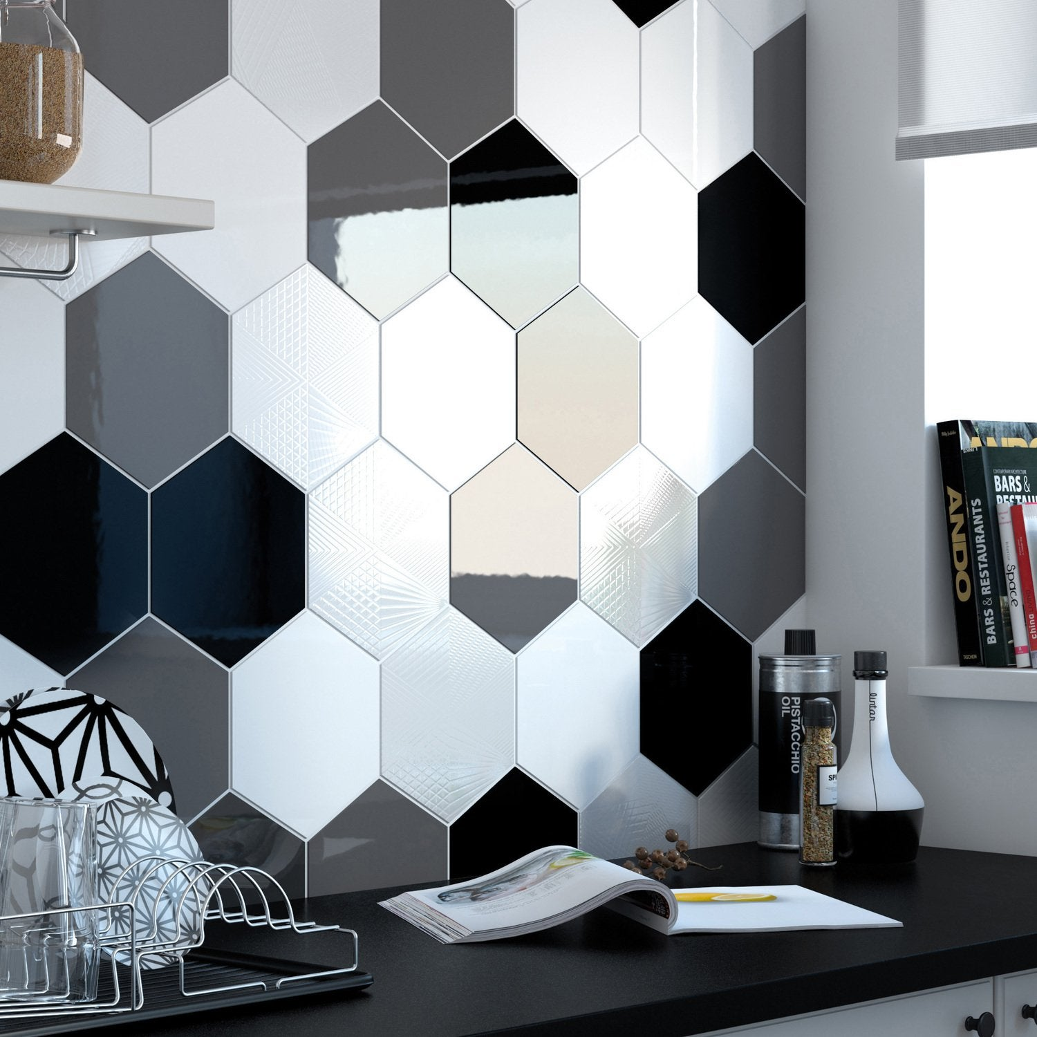 Du Carrelage Hexagonal Mixe Leroy Merlin