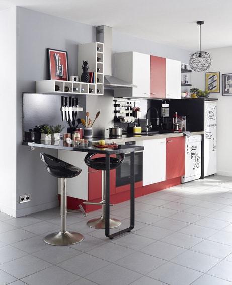 Jouez avec les couleurs des façades pour une cuisine pop