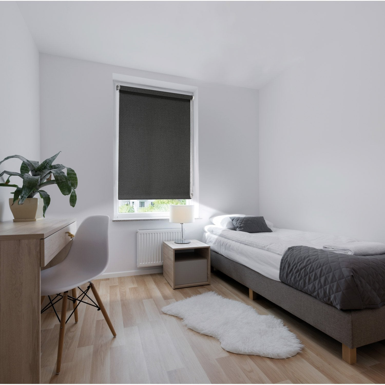 store enrouleur occultant ancona gris anthracite 45 49 5 x 190 cm leroy merlin. Black Bedroom Furniture Sets. Home Design Ideas