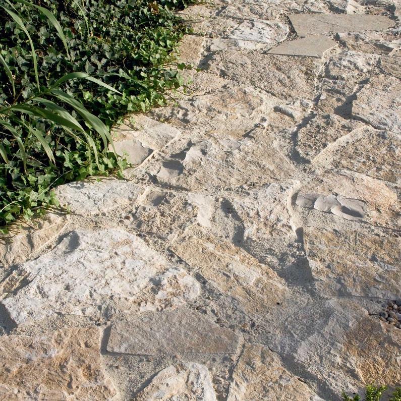 Opus en pierre de l\'yonne, jaune ocre L.100 x l.100 cm Ep.45 mm