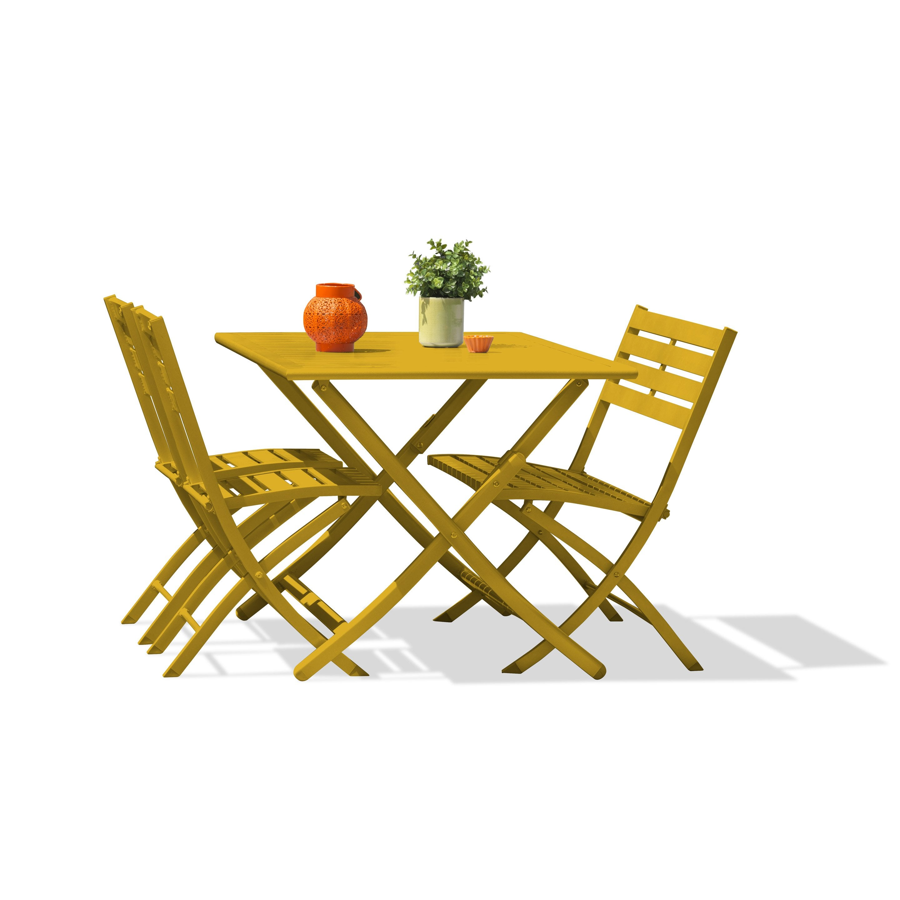 De Rectangulaire 4 Table Marius Moutarde Repas Personnes Jardin I6yvf7Ybg