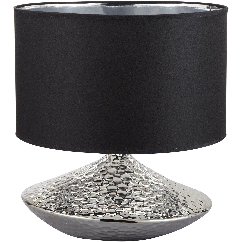 Lampe, e27 Marellas SEYNAVE, tissu noir, 40 W