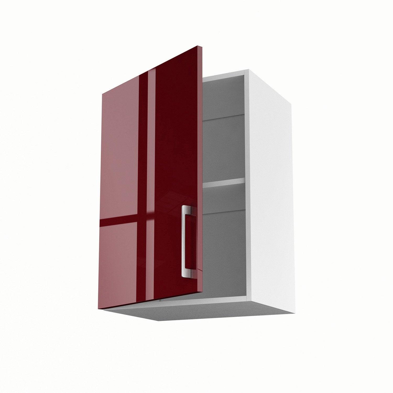 Meuble De Cuisine Haut Rouge Porte Griotte H X L X P Cm - Porte meuble