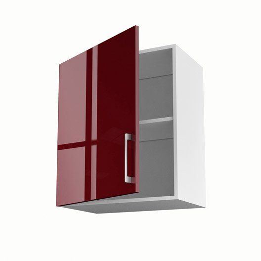 meuble de cuisine haut rouge 1 porte griotte x x cm leroy merlin. Black Bedroom Furniture Sets. Home Design Ideas