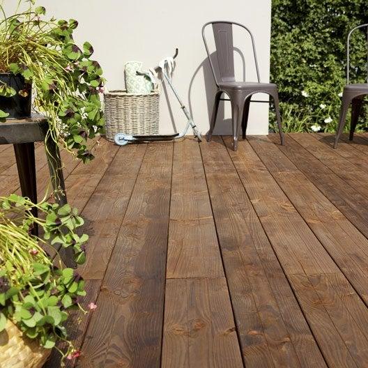 planche bois douglas natérial, marron, l.300 x l.17.5 cm x ep.33