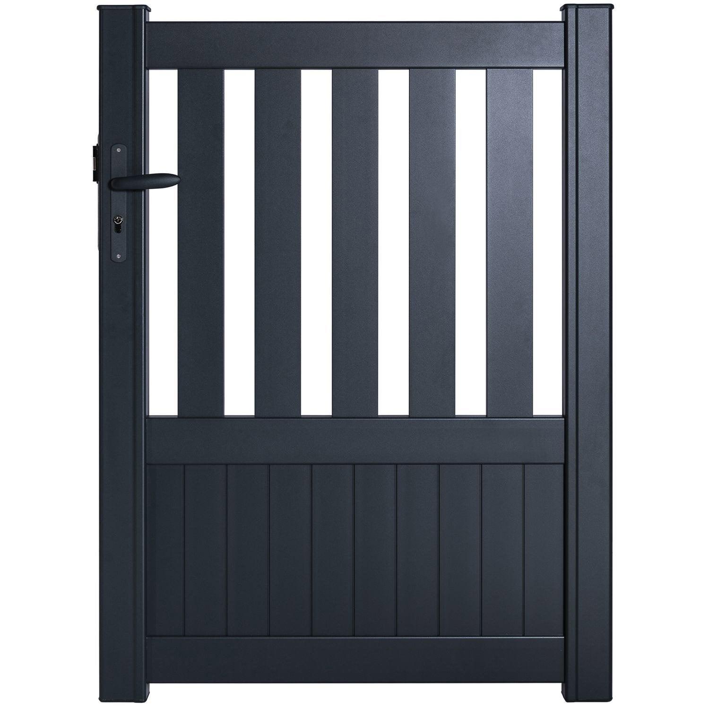 portillon battant naterial penmarch x cm anthracite leroy merlin. Black Bedroom Furniture Sets. Home Design Ideas