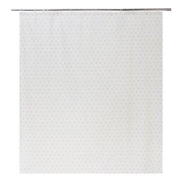 Rideau de douche en plastique transparent l.180 x H.200 cm, Nippon SENSEA