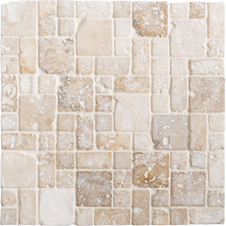 Beau Mosaïque Sol Et Mur Travertin Romano Antico Beige