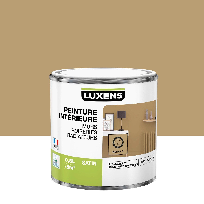 Peinture mur, boiserie, radiateur Multisupports LUXENS, kenya 3, 0.5 l, satin