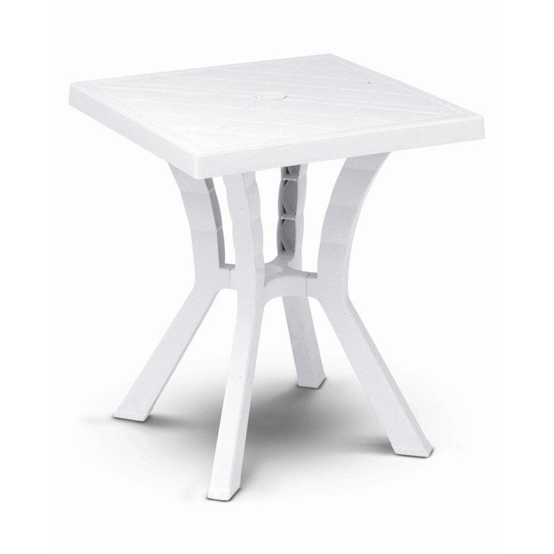 Table de jardin de repas Rigoletto carrée blanc 4 personnes