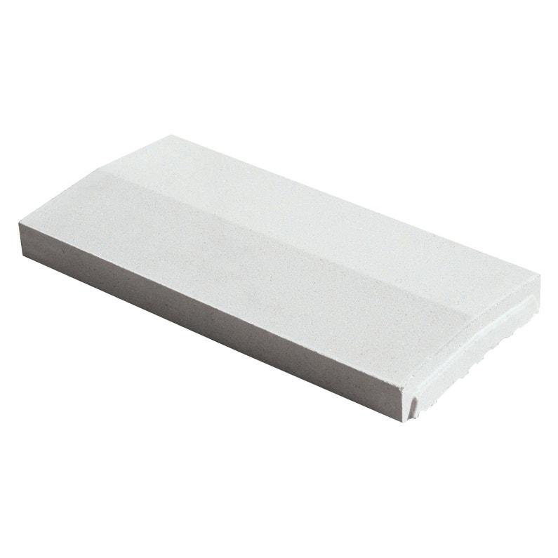 Couvre Mur 2 Pentes Optipose Blanc Cassé 49 X 23 X 4 Cm