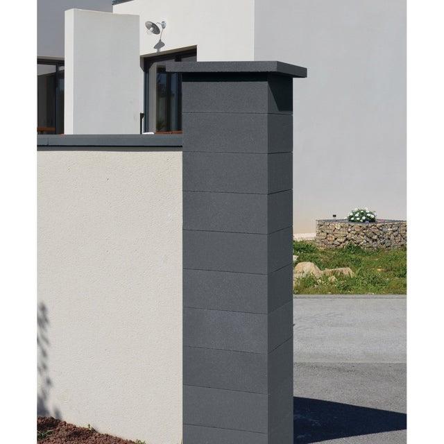 Couvre Mur 2 Pentes Optipose Noir 49 X 28 X 4 Cm