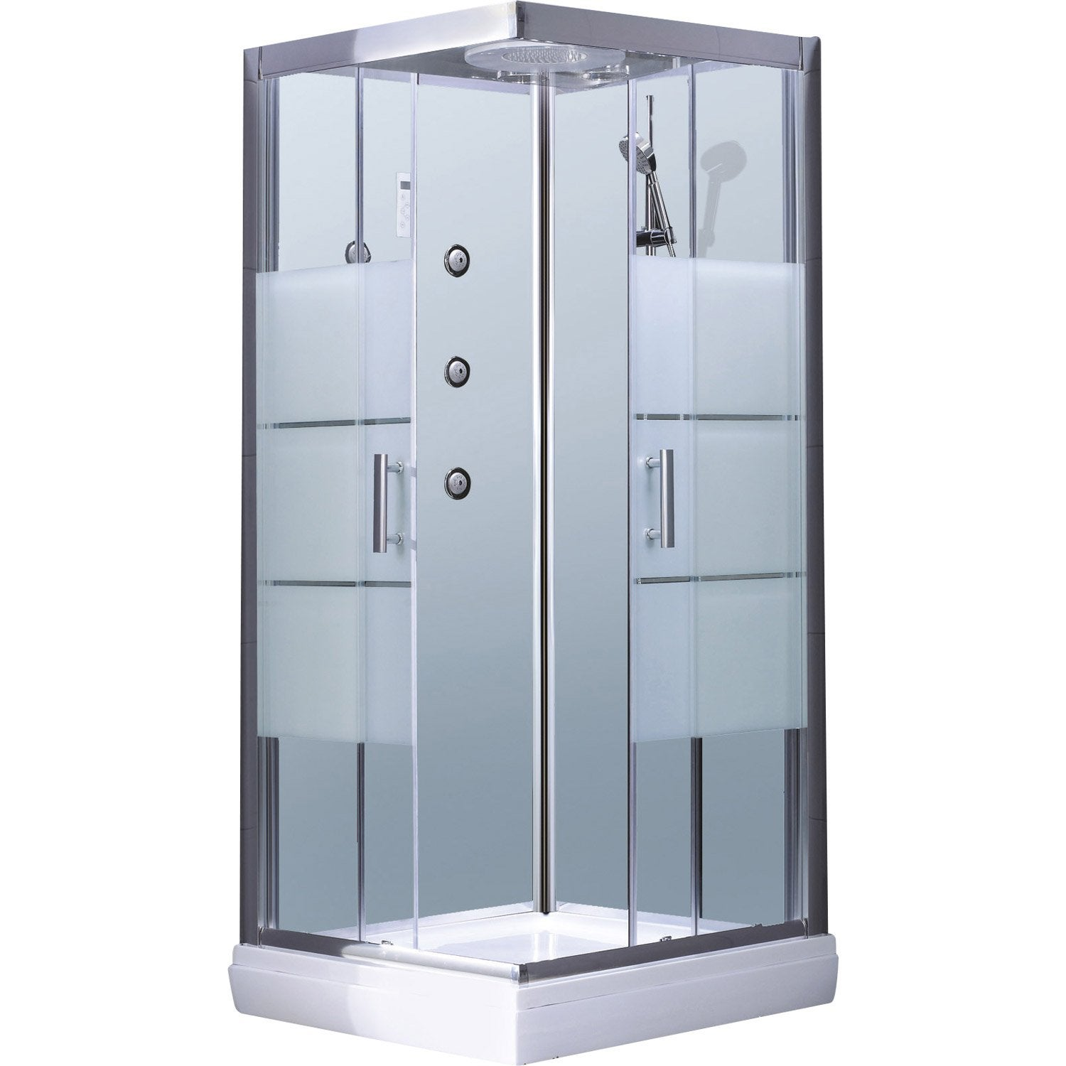 cabine de douche carr 90x90 cm optima2 blanche leroy merlin. Black Bedroom Furniture Sets. Home Design Ideas