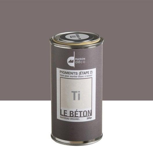 Peinture effet pigment le b ton maison deco ti 0 2 kg for Peinture aspect beton