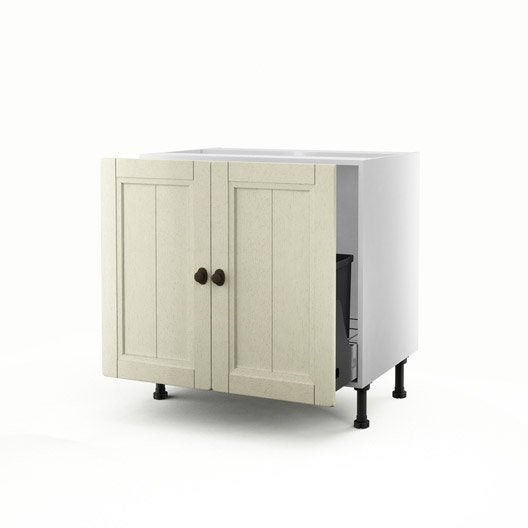 meuble de cuisine sous vier beige 2 portes tradition x x cm leroy merlin. Black Bedroom Furniture Sets. Home Design Ideas