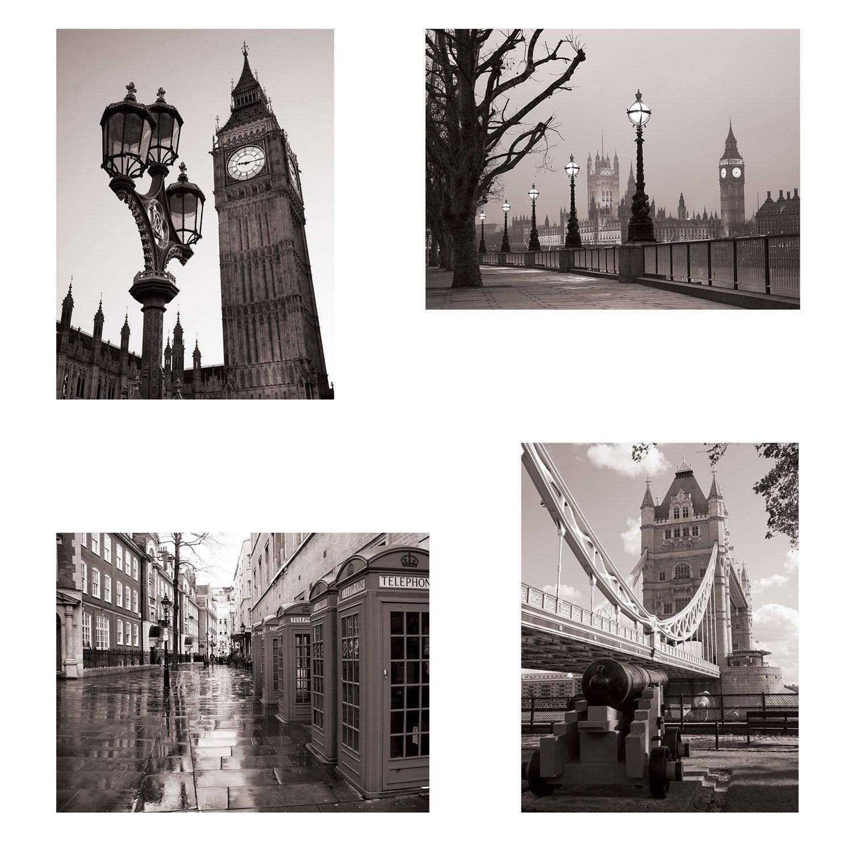 Set de 4 images Londres l.30 x H.40 cm