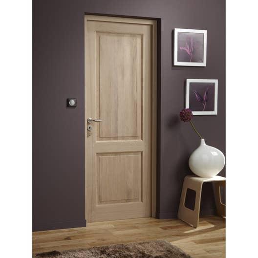 bloc porte ch ne plaqu ch ne bruges artens x cm leroy merlin. Black Bedroom Furniture Sets. Home Design Ideas