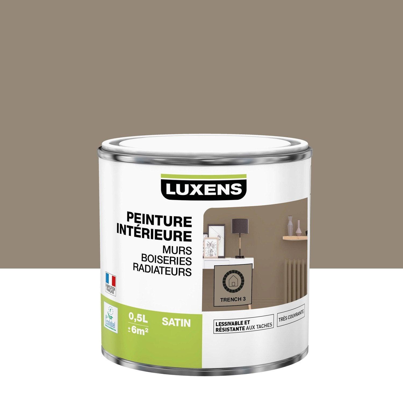 Peinture mur, boiserie, radiateur Multisupports LUXENS, trench 3, 0.5 l, satin