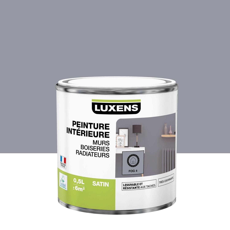 Peinture mur, boiserie, radiateur Multisupports LUXENS, fog 4, 0.5 l, satin