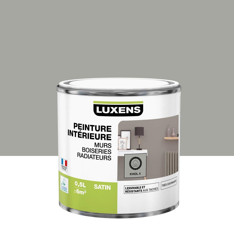 Peinture mur, boiserie, radiateur Multisupports LUXENS khol 4 satiné 0.5 l