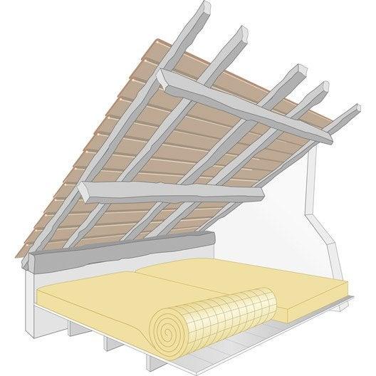 laine de verre kraft 2 6 x 1 2 m ep 300 mm lambda r 7 5 isover leroy merlin. Black Bedroom Furniture Sets. Home Design Ideas