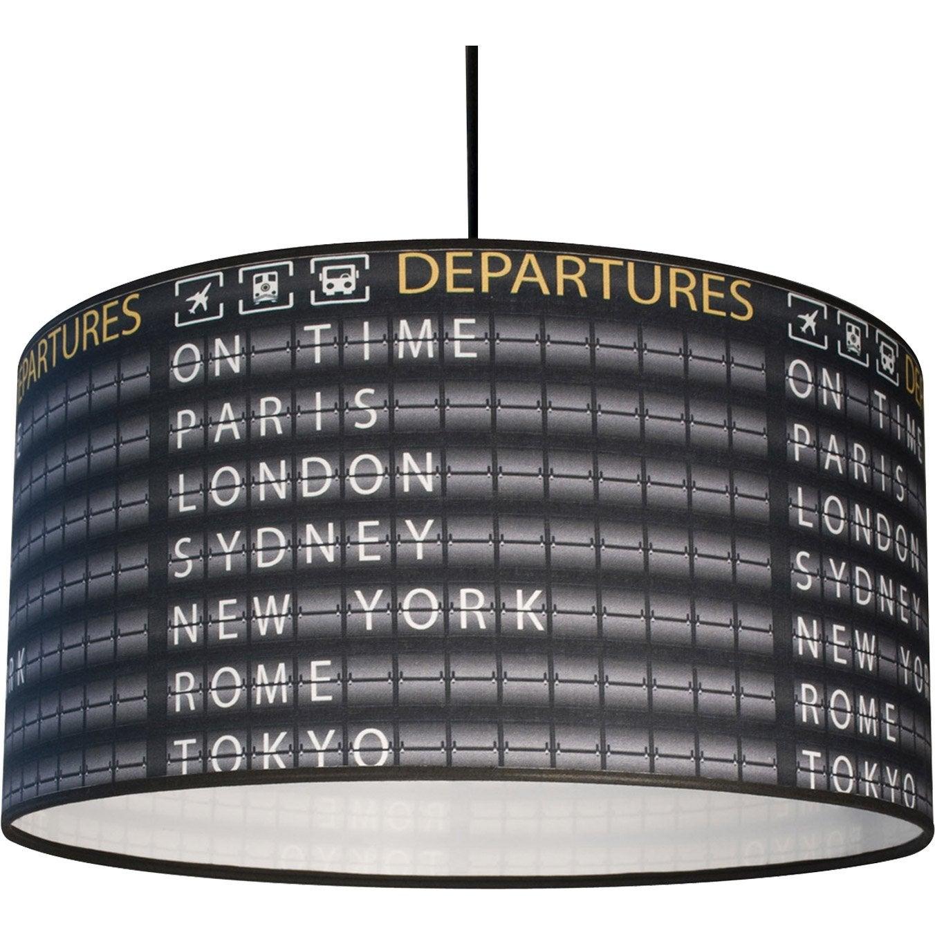 W X SuspensionE27 Departures 1 Tissus City Noir Metropolight 60 W9YDH2EI