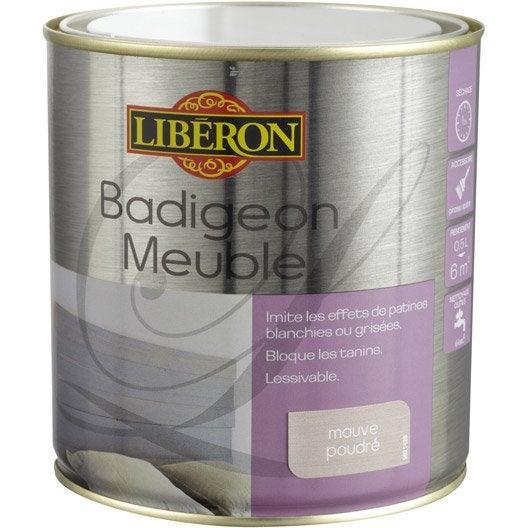 lasure mat liberon badigeon meuble mauve poudr 0 5 l leroy merlin. Black Bedroom Furniture Sets. Home Design Ideas