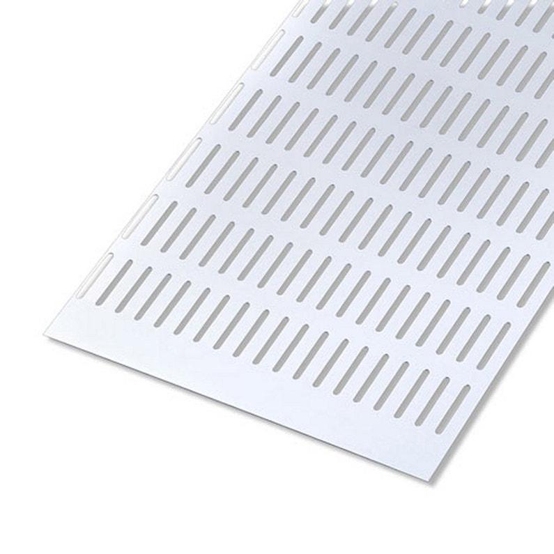 Tôle Aluminium Perforée Anodisé Argent L25 X L50 Cm Ep07 Mm