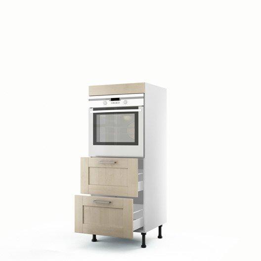 demi colonne blanc four 2 tiroirs ines x x cm leroy merlin. Black Bedroom Furniture Sets. Home Design Ideas