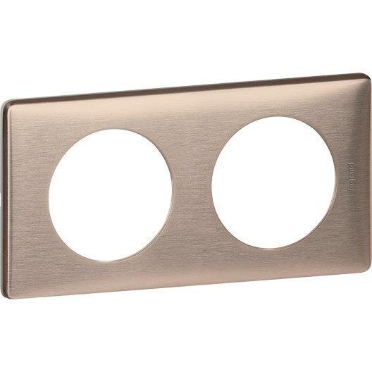 plaque double c liane legrand copper leroy merlin. Black Bedroom Furniture Sets. Home Design Ideas