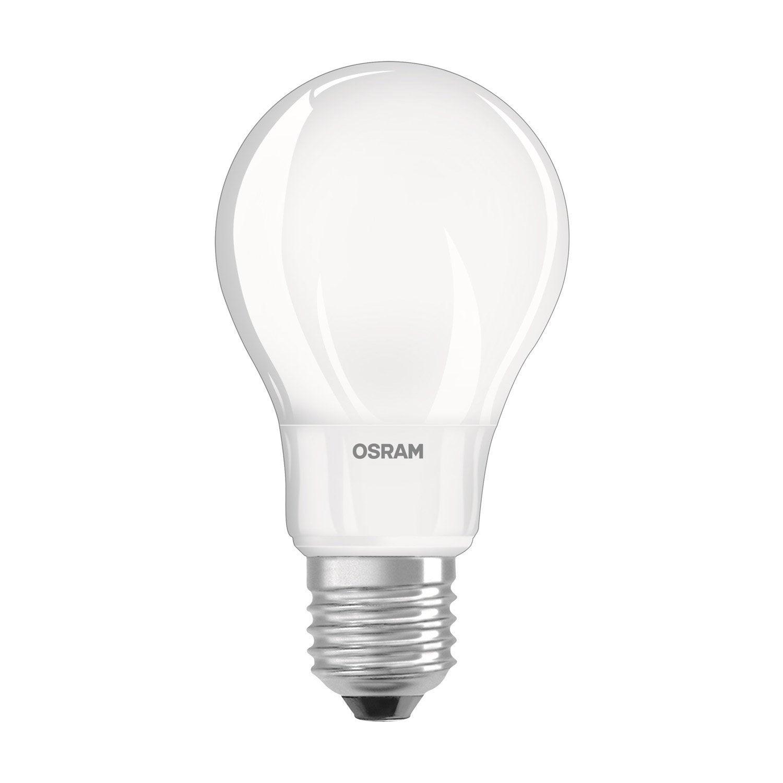 ampoule led 8w 806lm quiv 60w e27 compatible variateur 2700k osram leroy merlin. Black Bedroom Furniture Sets. Home Design Ideas