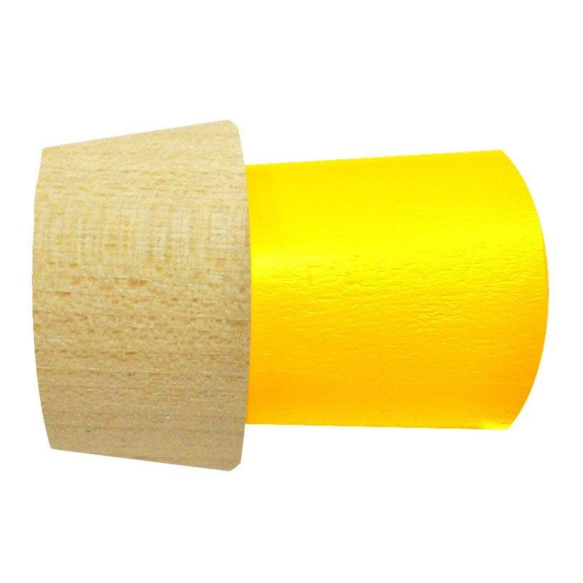 Embout INSPIRE, jaune mat, pour tringle à rideau Diam.28 mm