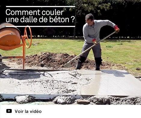 Vidéo - couler une dalle béton