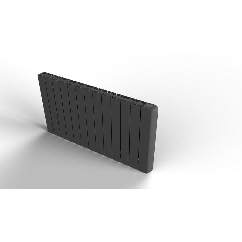 Radiateur électrique à Inertie Fluide Equation Alidea Noir 1500 W